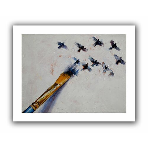 'Birds' by Michael Creese Canvas Poster