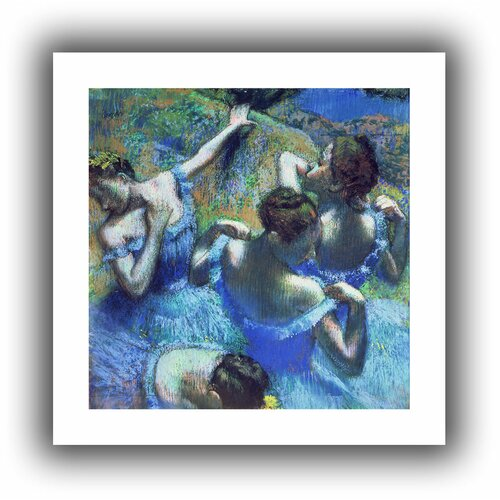 'Blue Dancers' by Edgar Degas Unwrapped on Canvas