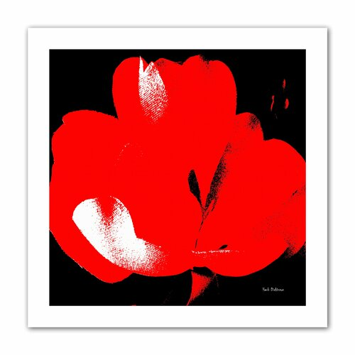 'Hot Blooms I' by Herb Dickinson Painting Print on Canvas