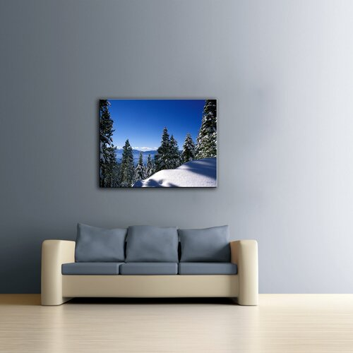Art Wall ''Lake Taho in Winter'' by Kathy Yates Photographic Print on Canvas