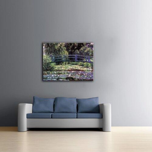 Art Wall ''Bridge at Sea Rose Pond'' by Claude Monet Canvas Painting Print