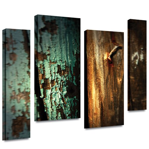 Art Wall 'Wood and Nail' by Mark Ross 4 Piece Photographic Print Gallery-Wrapped on Canvas Set
