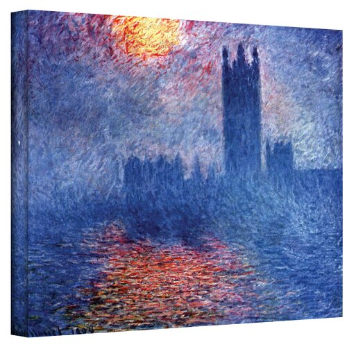''Houses of Parliament'' by Claude Monet Canvas Painting Print