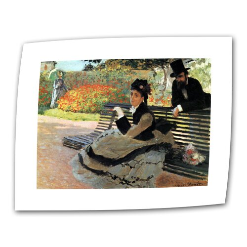"""Art Wall """"Park Bench"""" by Claude Monet Painting Print on Canvas"""