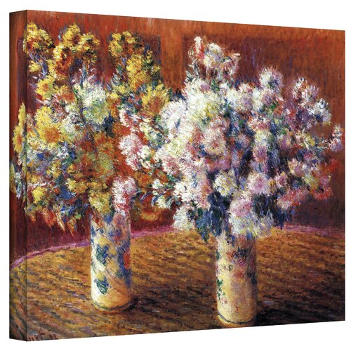 Art Wall ''Two Vases'' by Claude Monet Original Painting on Canvas