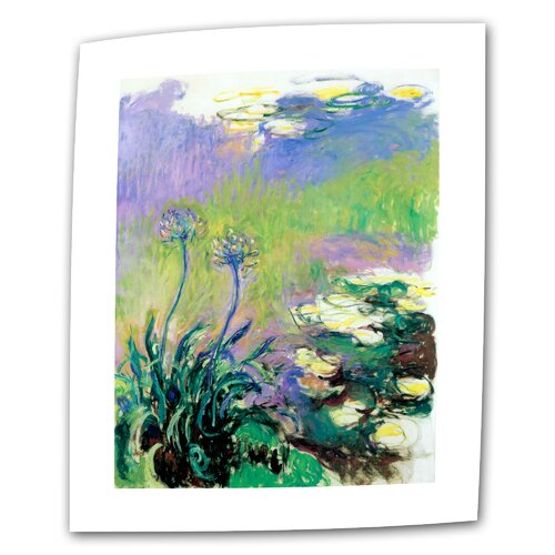 "Art Wall ""Agapanthus"" by Claude Monet Painting Print on Canvas"