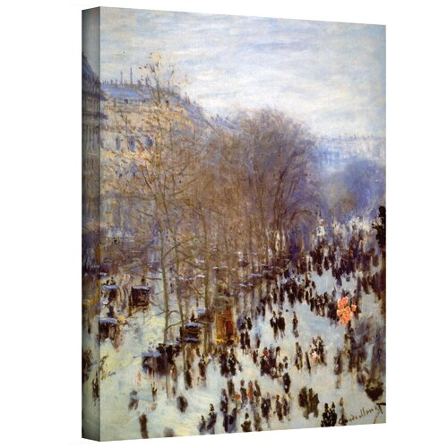 Art Wall ''Boulevard Capucines'' by Claude Monet Painting Print on Canvas