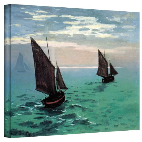 Art Wall ''Two Sailboats'' by Claude Monet Painting Print on Canvas