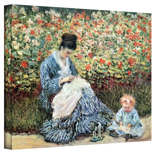 Art Wall ''Mother and Child'' by Claude Monet Canvas Painting Print
