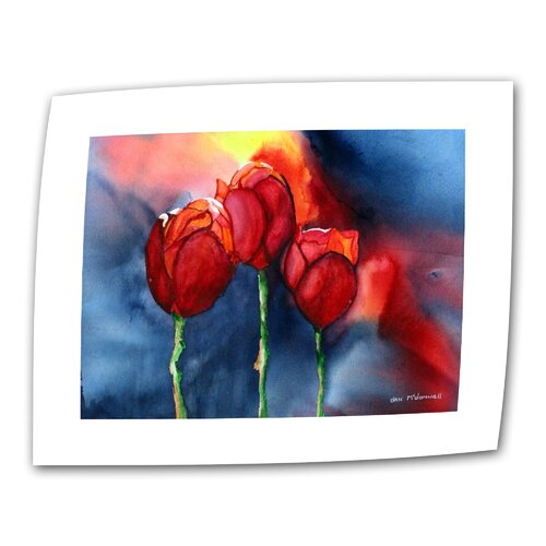 """Art Wall """"Tulips"""" by Dan McDonnell Painting Print on Canvas"""