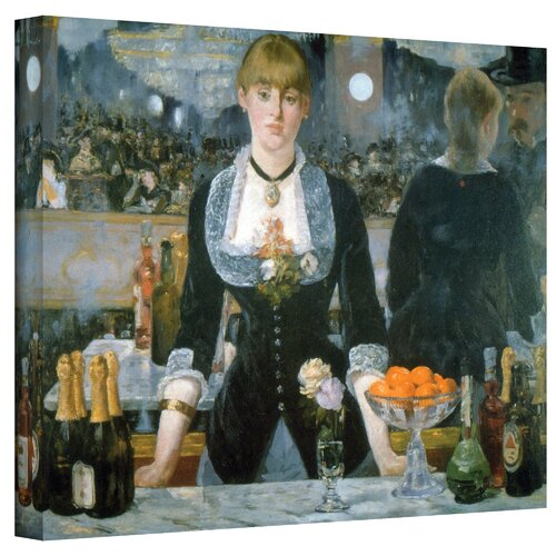 Art Wall ''A Bar at the Fol'' by Edouard Manet Painting Print on Canvas