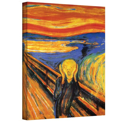 Art Wall ''The Scream'' by Edvard Munch Painting Print on Canvas