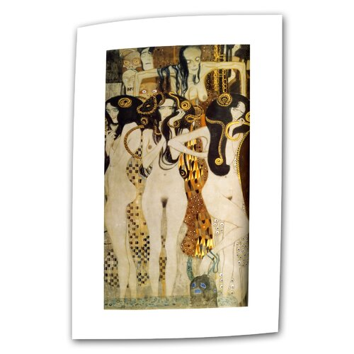 "Art Wall ""Beethoven Frieze"" by Gustav Klimt Original Painting on Canvas"