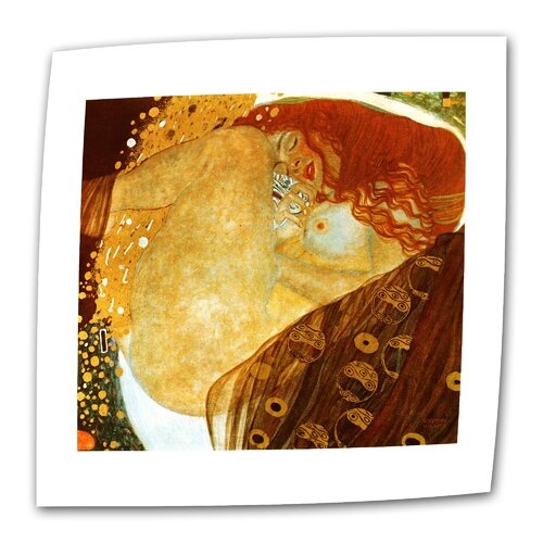 "Art Wall ""Danae"" by Gustav Klimt Original Painting on Canvas"