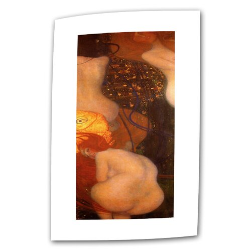 "Art Wall ""Goldfish"" by Gustav Klimt Original Painting on Canvas"