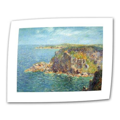 "Art Wall ""Cap Frehel"" by Gustave Loiseau Painting Print on Canvas"