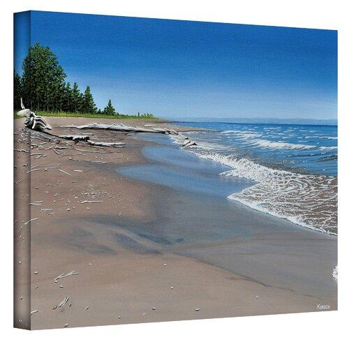 Art Wall ''Driftwood Beach'' by Ken Kirsch Photographic Print on Canvas