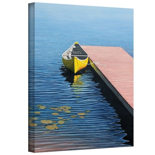 Art Wall ''Yellow Canoe'' by Ken Kirsch Painting Print on Canvas