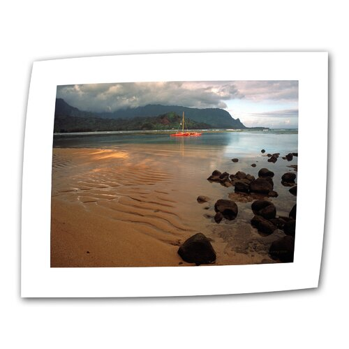 "Art Wall ""Hanalei Bay at Dawn"" by Kathy Yates Photographic Print on Canvas"