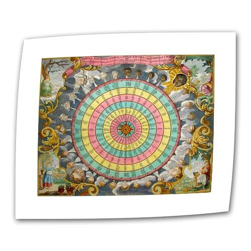 "Art Wall Antique ""Pyxis Nautica Compass Charte"" Graphic Art on Canvas"
