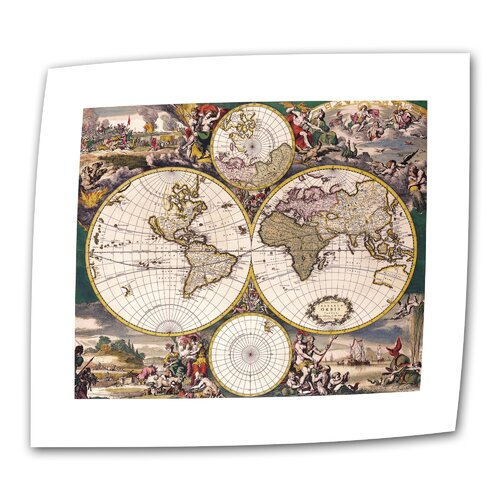 "Art Wall Antique ""Terrarum Orbis"" Graphic Art on Canvas"