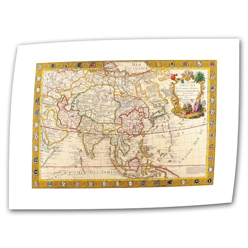 Antique Maps 'Map of Asia' by Guillaume Danet Graphic Art Canvas