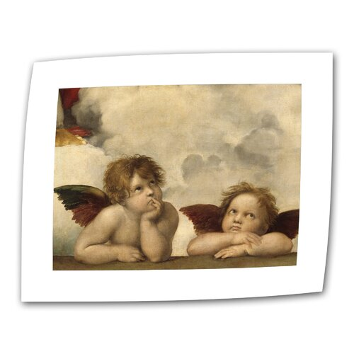 "Art Wall ""Cherubs"" by Raphael Original Painting on Canvas"