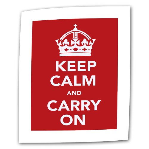 "Art Wall Government of the United Kingdom ""Keep Calm and Carry on"" Textual Canvas"