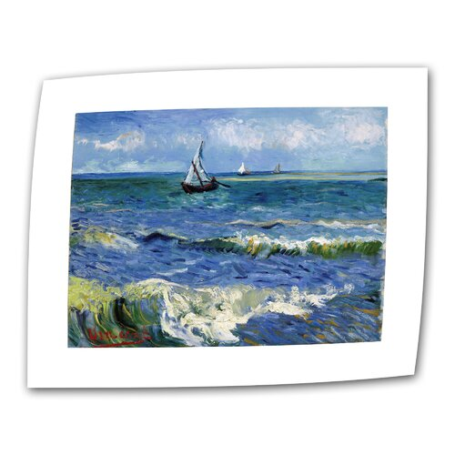 "Art Wall ""Seascape at Saintes Maries"" by Vincent van Gogh Painting Print on Canvas"