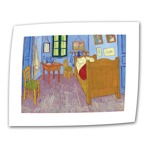 "Art Wall ""The Bedroom"" by Vincent van Gogh Painting Print on Canvas"
