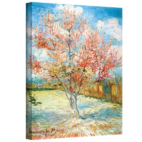 Art Wall 'Pink Peach Tree' by Vincent Van Gogh Painting ...