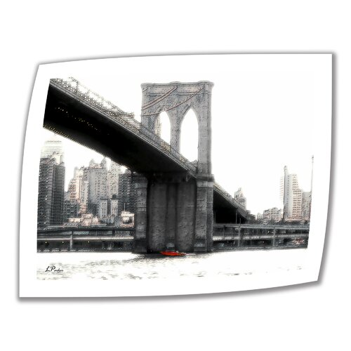 Art Wall 'NYC Brooklyn Bridge' by Linda Parker Photographic Print on Canvas