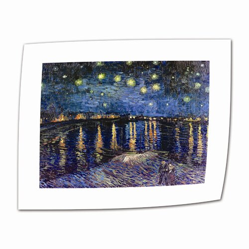 "Art Wall ""Starry Night over the Rhone"" by Vincent van Gogh Painting Print on Canvas"