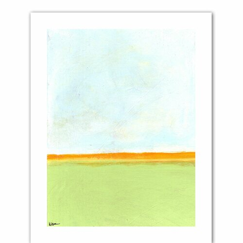 'Big Sky Country III' by Jan Weiss Graphic Art Canvas