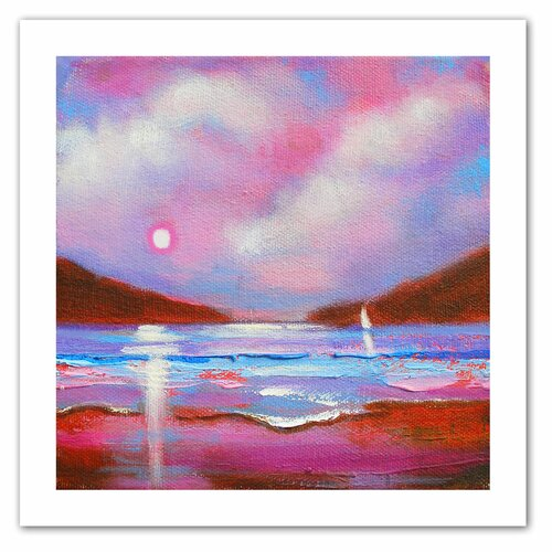 Art Wall 'Sail On' by Susi Franco Painting Print on Canvas