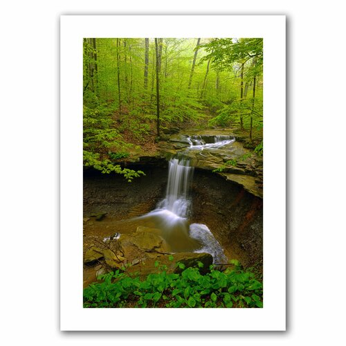 Art Wall 'Water Falls' by David Liam Kyle Photographic Print on Canvas