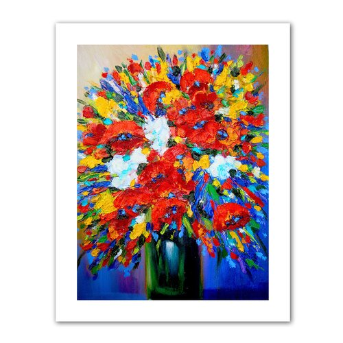 Art Wall 'Happy Foral' by Susi Franco Painting Print on Canvas