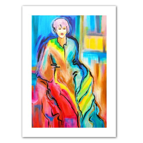Art Wall 'I am Queen' by Susi Franco Graphic Art on Canvas