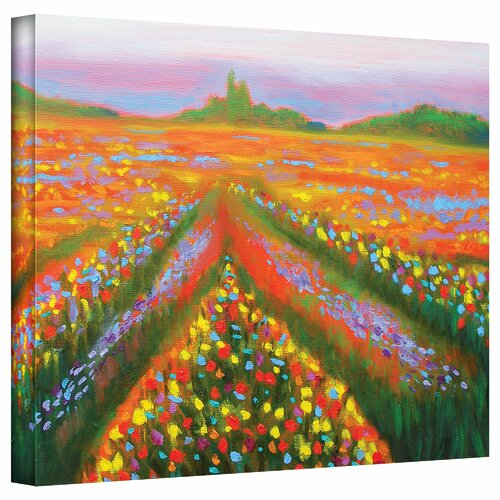 Art Wall 'Floral Landscape' by Susi Franco Painting Print on Canvas