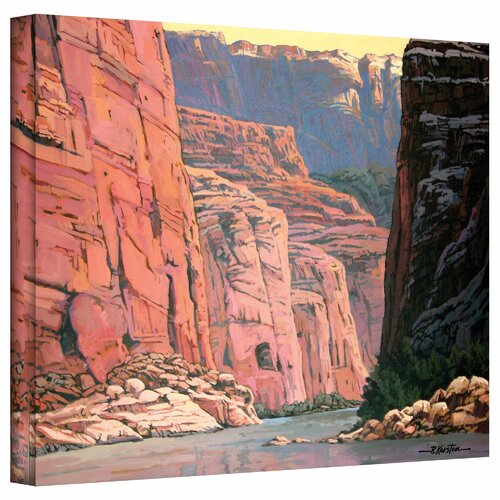 Art Wall 'Colorado River Walls' by Rick Kersten Painting Print on Canvas