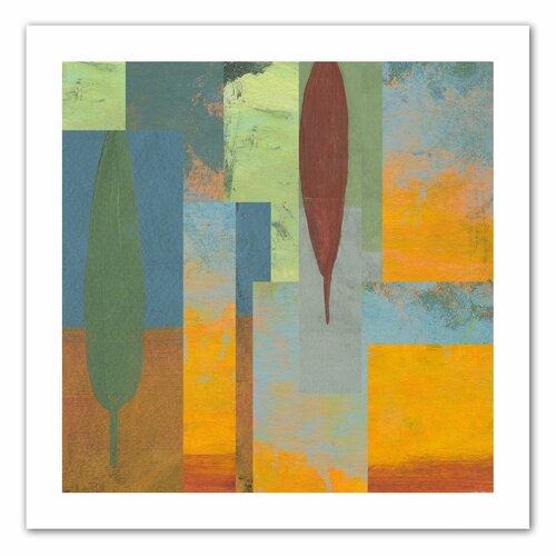 'Tuscany Square I' by Jan Weiss Graphic Art Canvas