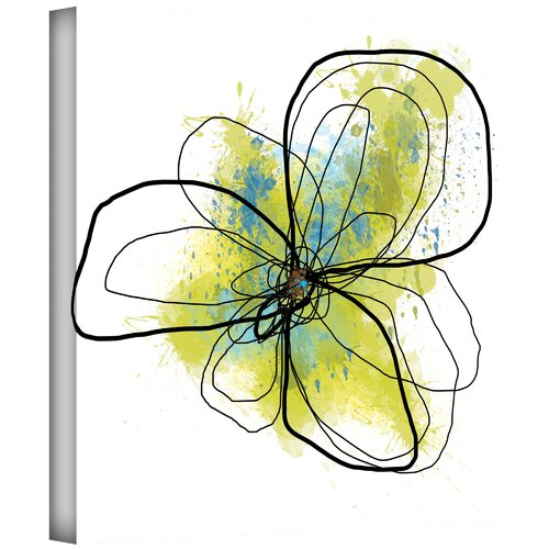 Art Wall 'Citron Petals II' by Jan Weiss Graphic Art Canvas