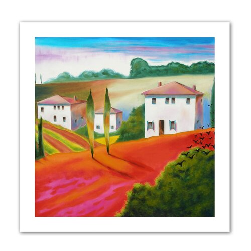 Art Wall 'Provence Moonrise' by Susi Franco Painting Print on Canvas