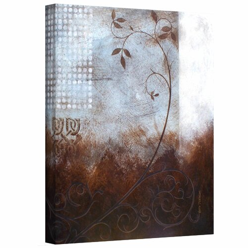 Art Wall 'Splashy Umber II' by Herb Dickinson Painting Print on Canvas
