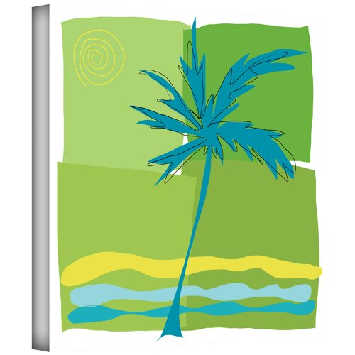 Art Wall 'Single Palm' by Jan Weiss Painting Print on Canvas