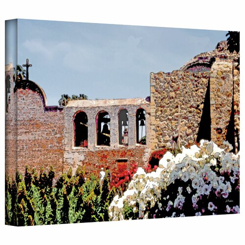 Art Wall 'Bells of Mission San Juan Capistrano' by Linda Parker Photographic Print on Canvas