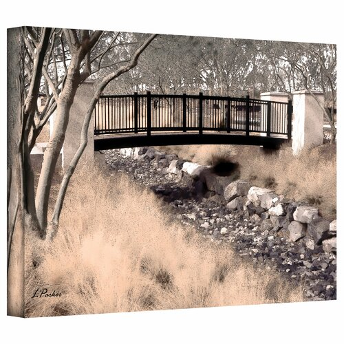 Art Wall 'Bridge over Wash' by Linda Parker Photographic Print on Canvas