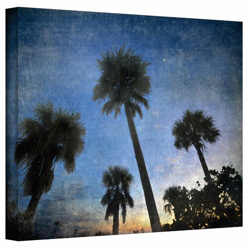 Art Wall 'Palms at Sunset' by David Liam Kyle Photographic Print on Canvas