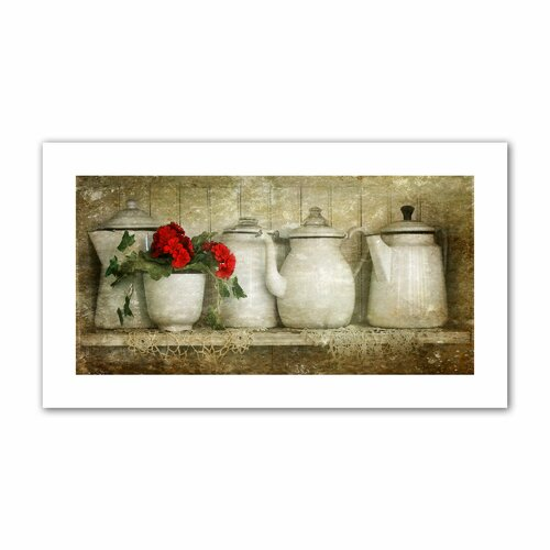 'Flower with Pots' by David Liam Kyle Photographic Print on Canvas