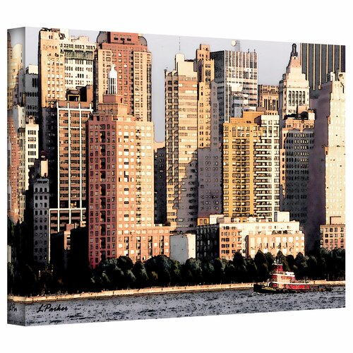 Art Wall 'Tug Boat at the Battery, NYC' by Linda Parker Photographic Print on Canvas